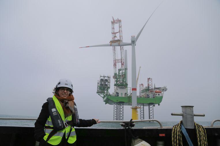 Het windpark SeaMade van Eneco werd in november vorig jaar afgewerkt. Minister Van der Straeten kwam een kijkje nemen. Beeld A Mad Production