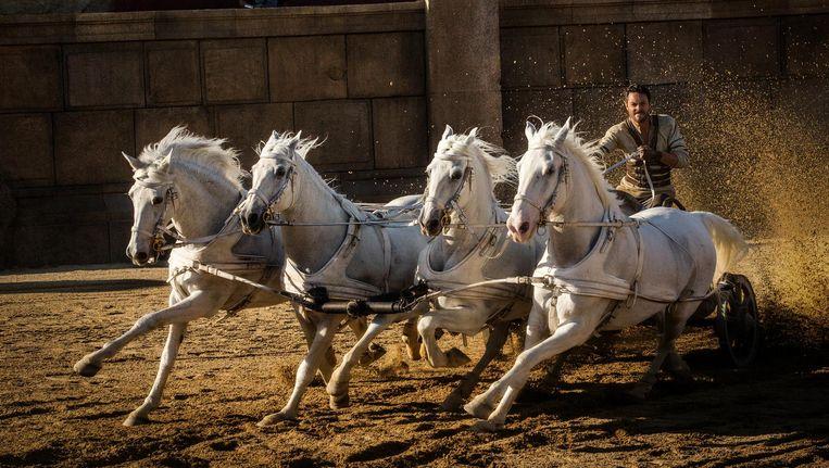 De beroemde wagenrace in Ben Hur Beeld -