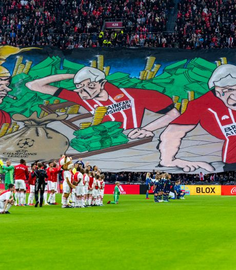 Supportersvereniging PSV vindt spandoek met term 'Aidshoven' over de grens