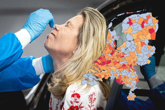 Het coronavirus in Nederland op de kaart.