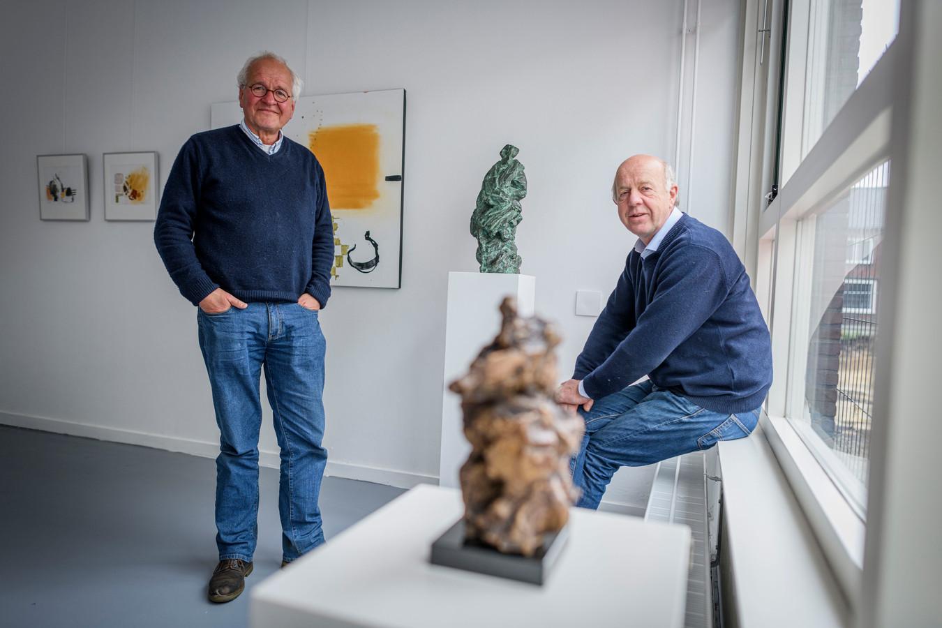 Bart ten Bruggencate (links) en Bert Nijenhuis exposeren samen.
