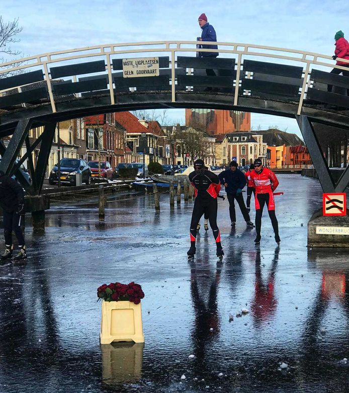De Wonderbrug in Sneek.
