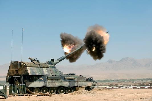 Met een vergelijkbare pantserhouwitzer werden 32 granaten gevuurd tijdens de slag om Chora.