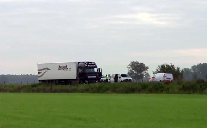 Bedreiging Truck op N322
