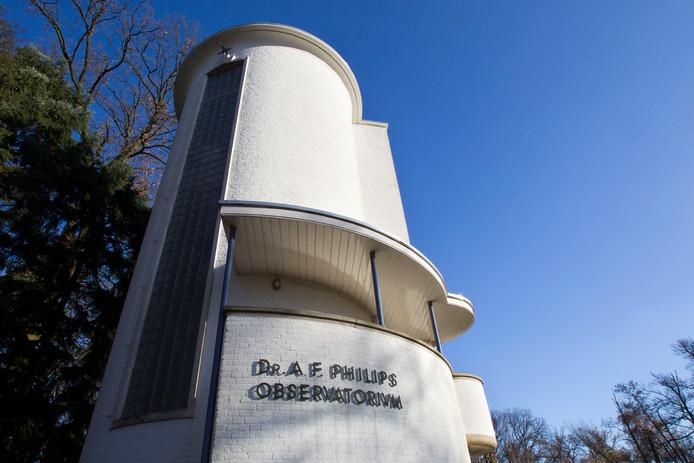 Het 'Dr. A.F. Philips Observatorium' in het Stadswandelpark in Eindhoven.