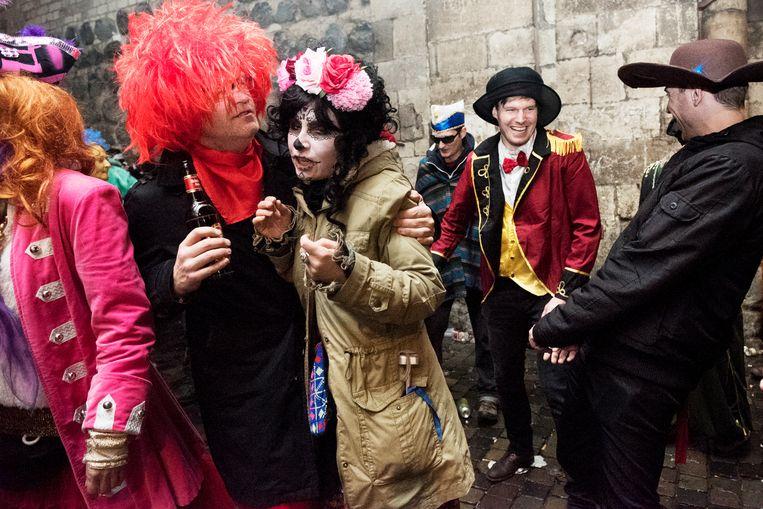 Carnavalvierders in Keulen, enkele jaren geleden. Beeld Sanne De Wilde