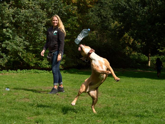Kelly de Kok van hondenschool Martin Gaus met Keasha.