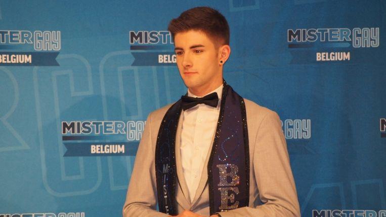 Jamie Deblieck bij de Mister Gay verkiezing 2017 Beeld Mister Gay Belgium