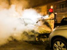 Opnieuw autobrand in Eindhoven: wagen compleet verwoest door vlammen
