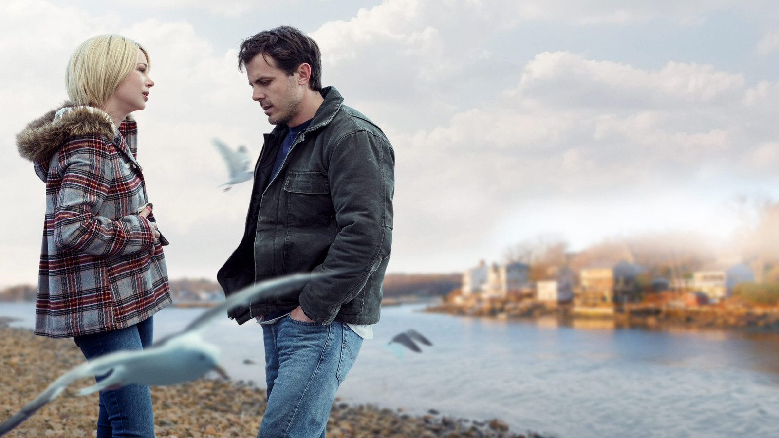 Michelle Williams en Casey Affleck in Manchester by the Sea.