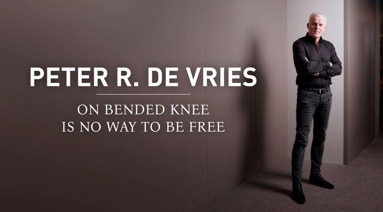 De tekst die De Vries op zijn kuit had laten tatoeëren. Beeld