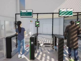 Automatische toegangspoorten Heilig Hartziekenhuis registreren temperatuur en mondmasker