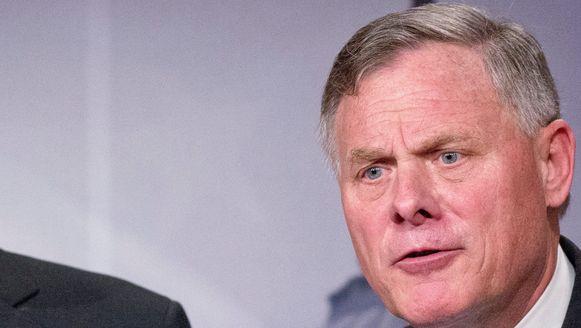 Senator Richard Burr, de voorzitter van de inlichtingencommissie van de Amerikaanse Senaat die de rol van Rusland bij de verkiezingen onderzoekt.