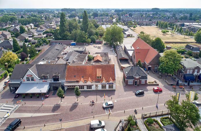 De locatie aan de Kerkstraat in Zeeland waar het nieuwe dorpshuis komt.