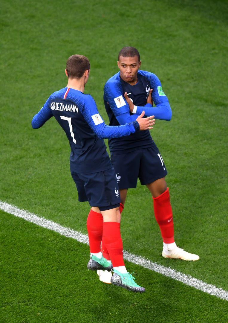 Antoine Griezmann en Kylian Mbappé. Beeld Getty Images