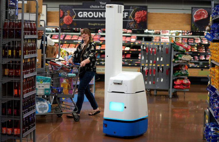 In de Walmart van Rogers, Arizona, zal de scanrobot dus binnenkort ook verdwijnen. Beeld AFP