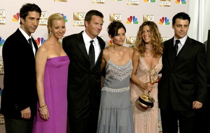 De cast van Friends in 2002.