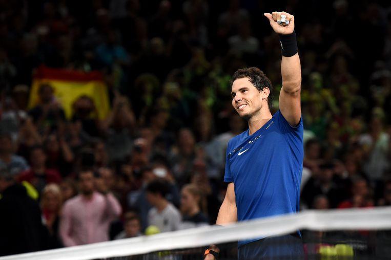 Rafael Nadal na zijn overwinning tegen Hyeon Chung.