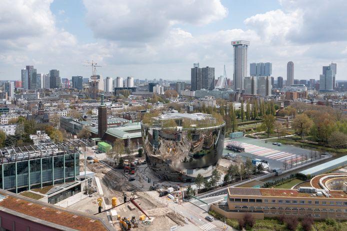 Uitzicht op het Depot Boijmans Van Beuningen in Rotterdam.