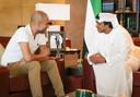 Pep Guardiola met Mansour bin Zayed Al Nahyan.