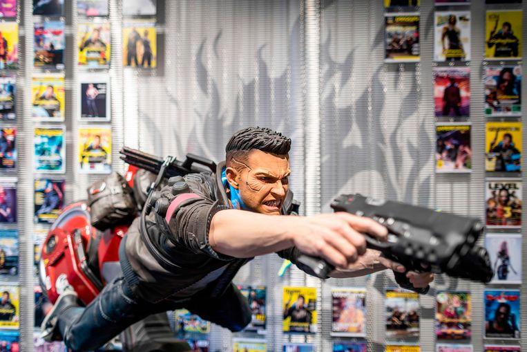 Een karakter uit de Cyberpunk  2077-game die in Polen is ontwikkeld.  Beeld AFP