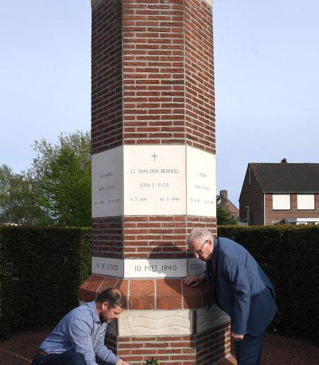 Een krans, ook voor gesneuvelde soldaten die niet welkom waren op Boxmeerse begraafplaats