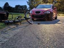 Hond en fietser gewond door botsing met auto in Breedenbroek