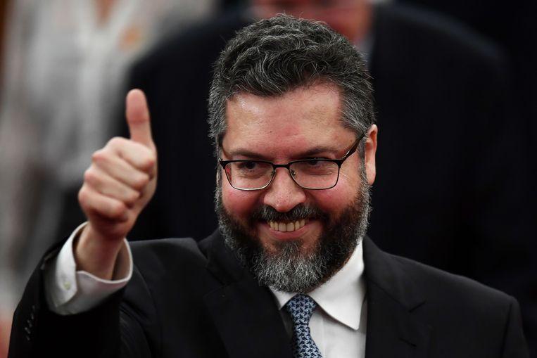 Globalisme is volgens Araújo een 'antichristelijk systeem, in werking gezet door cultuurmarxisten'. Beeld AFP