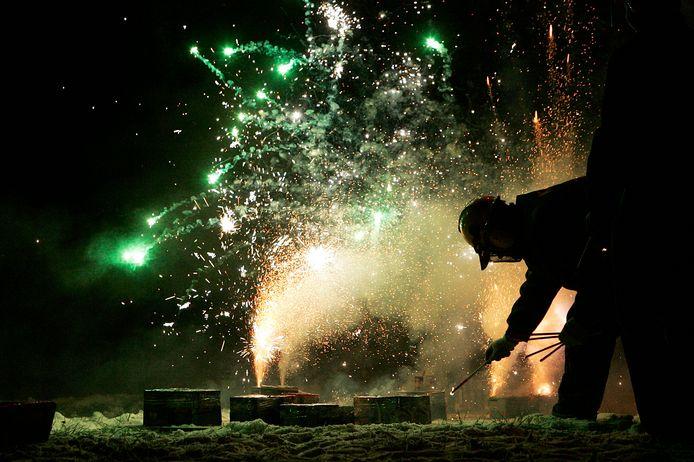 Vuurwerkshow bij Willems in Borculo.