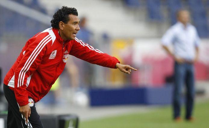 Ricardo Moniz in zijn tijd als trainer van Red Bull Salzburg.
