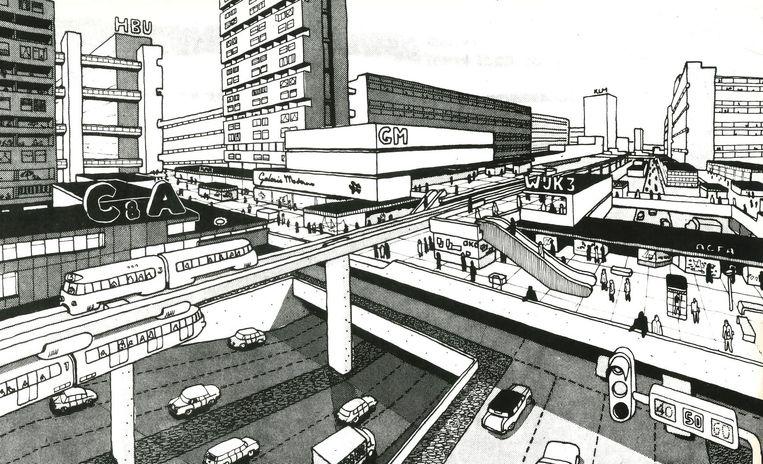 Stad op Pampus, 1965 Beeld Van den Broek en Bakema