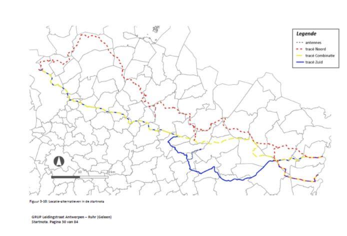 Er liggen drie tracés op tafel. Via één van die drie zal een pijpleiding het Duitse Rurhgebied verbinden met de haven van Antwerpen, doorheen Hasselt.