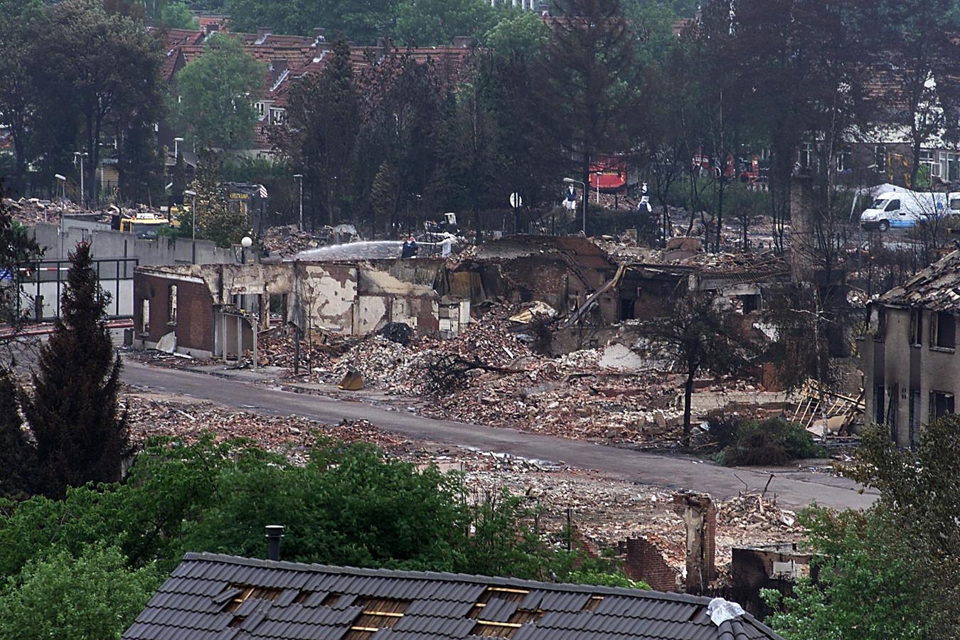 Een beeld van het rampgebied