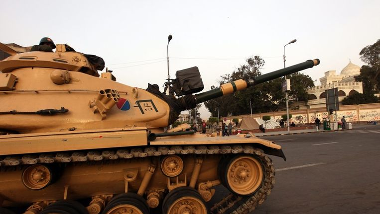 Egyptische tank Beeld ANP
