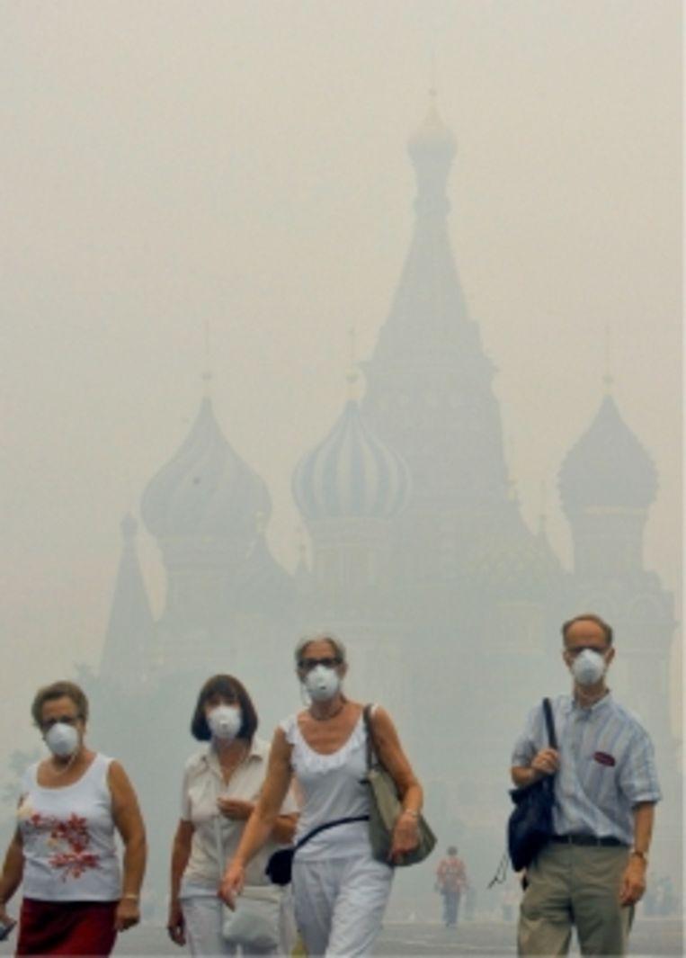 'In 2010 veroorzaakte de droogte zoveel bosbranden in Rusland dat de smog de zichtbaarheid tot enkele meters beperkte.' Beeld