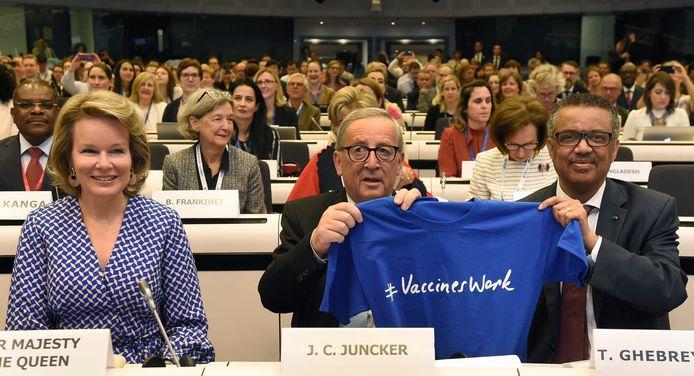 Het Global Vaccination Summit werd gezamenlijk georganiseerd door de Europese Commissie en de WHO, in aanwezigheid van koningin Mathilde.
