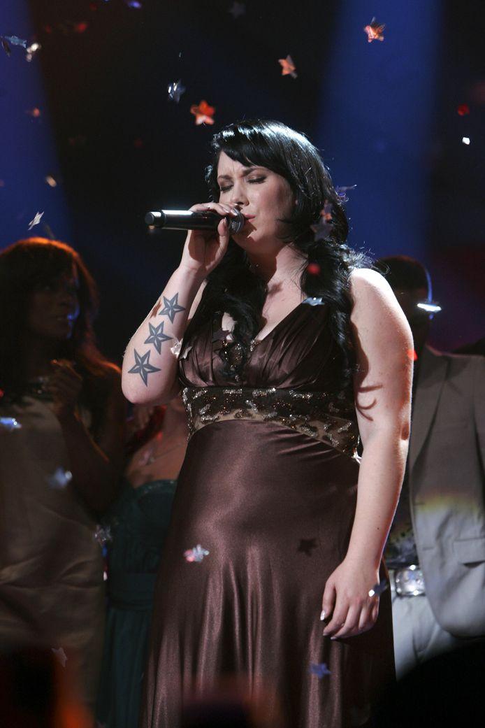 Tijdens de finale van X Factor in 2009.