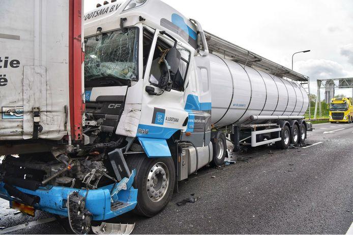 Ongeluk op de A59