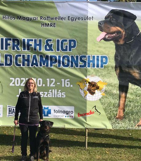 Marjolein en rottweiler Hardy genieten van eerste WK-deelname