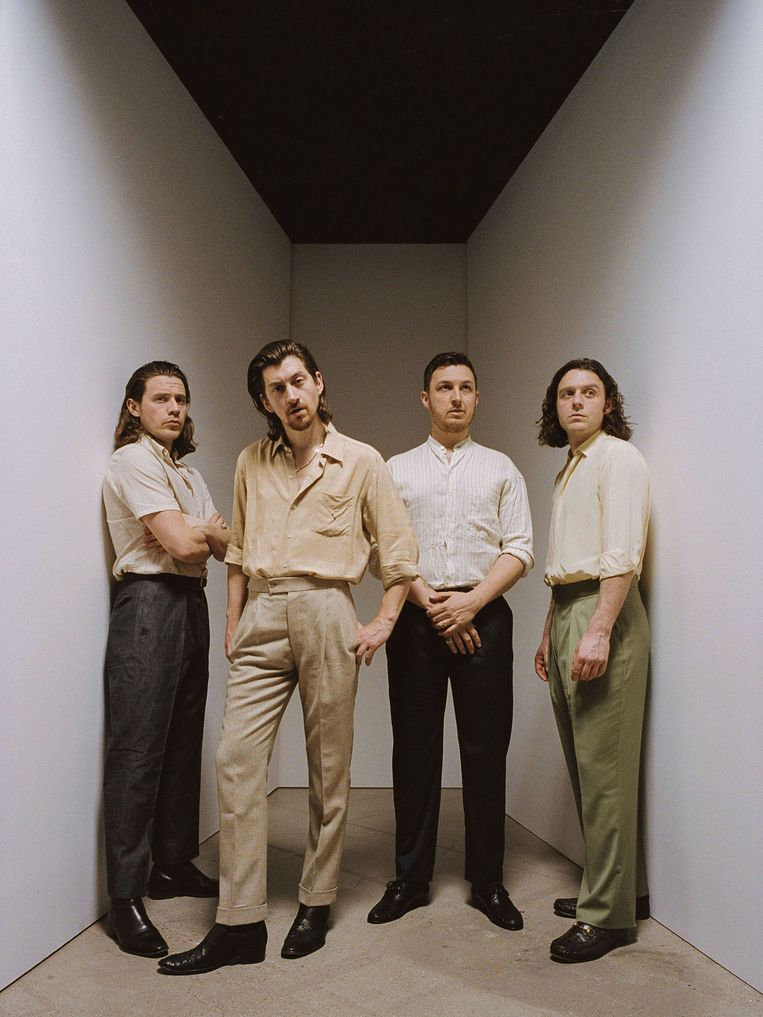 Arctic Monkeys met Alex Turner (tweede van links). Beeld Zackery Michael