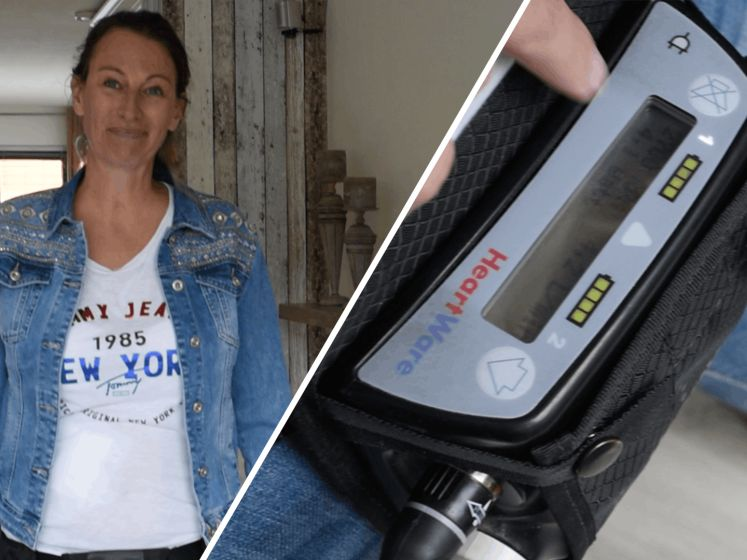 Christina kreeg een hartaanval en leeft nu op batterijen