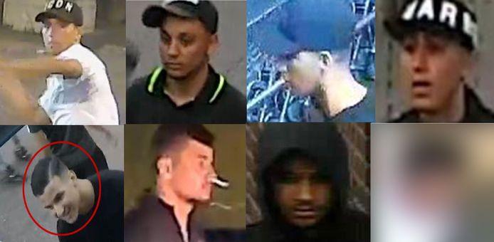 De politie is nog op zoek naar deze jongens. De jongen die zich heeft gemeld, staat niet meer afgebeeld.