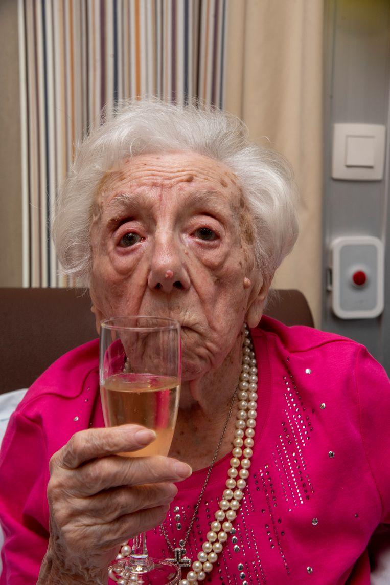 Maria De Coster wordt 102 jaar.