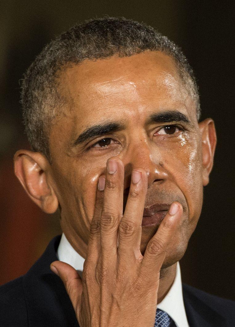 President Obama liet in januari 2016 nog zijn tranen de vrije loop toen hij de Sandy Hook-tragedie aanhaalde tijdens zijn pleidooi voor een verstrenging van de wapenwetgeving.