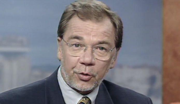 Jacques Bredael, l'inoubliable présentateur du JT de la RTBF durant les années nonante.