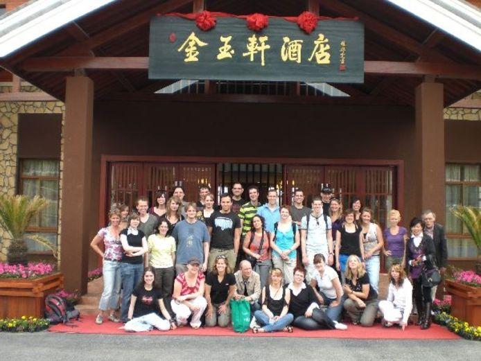 De hele delegatie van Torkest voor het resort in China. Foto: Hanneke Verhoeven