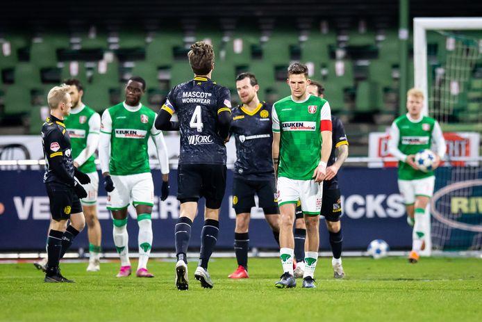 FC Dordrecht is de nieuwe hekkensluiter van de Keuken Kampioen Divisie.