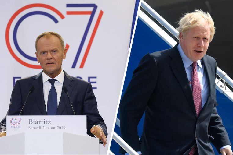 Donald Tusk en Boris Johnson spreken elkaar morgen over de brexit.