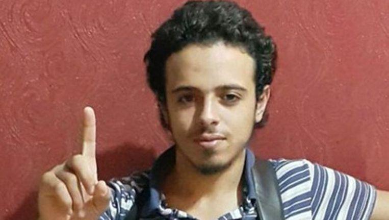 Bilal Hadfi blies zichzelf op 13 november op in de buurt van het Stade de France in Parijs. Beeld AFP