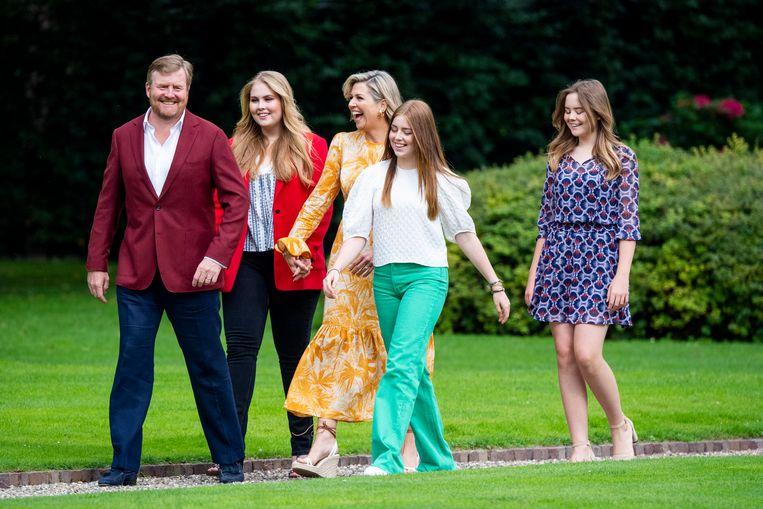 Zomerfotosessie 2021 van de koninklijke familie bij Paleis Huis ten Bosch in Den Haag Beeld Brunopress